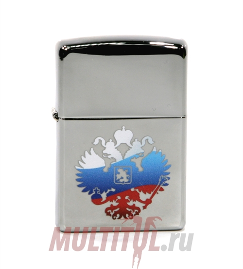 Zippo 250 Russian Coat Of Arms — Бензиновая зажигалка Zippo 250 RUSSIAN COAT OF ARMS